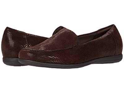 Trotters Deanna (Dark Brown Mini Dots Leather) Women