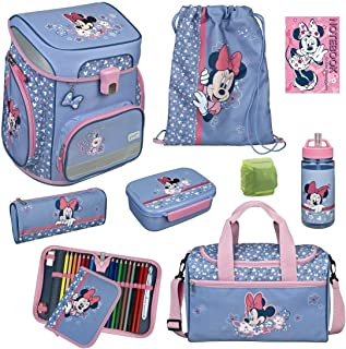 Mädchen Schulranzen-Set 9tlg. Scooli Easy FIT Ranzen 1. Klasse mit Sporttasche Disney Minnie Mouse MITW8255 Schultaschen K...