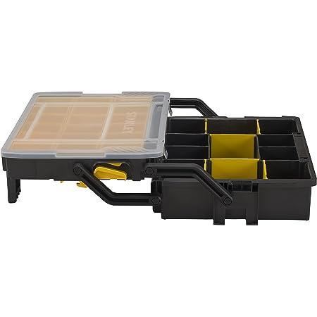 Stanley STST1-75540 Boîte à Compartiments Sortlevel 23 Compartiemnts - Profondeur 79mm - Poignée Ergonomique - Séparateurs modulables - Couvercle transparent - Loquets de Verrouillage