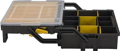 Stanley STST1-75540 Boîte à Compartiments Sortlevel 23 Compartiemnts - Profondeur 79mm - Poignée Ergonomique - Sépara...