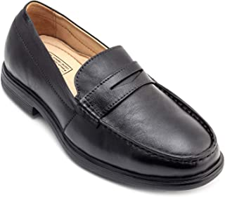 tZaro Genuine Leather, Feather Lite Black Formal Shoes - TZBL2514MCSG