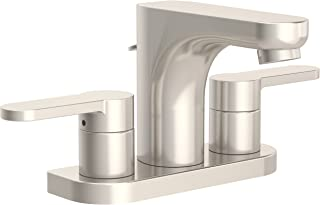 Symmons SLC-6712-STN-1.0 Identity 4 in. Centerset 2-Handle Bathroom Faucet with Drain Assembly in Satin Nickel (1.0 GPM)