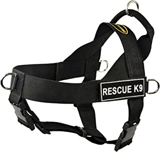 DT Universal No Pull Dog Harness, Rescue K9, Black, Medium, Fits Girth Size: 26-Inch to 32-Inch