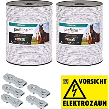 5x Verbinder Seilverbinder Elektrozaun Zaun Weidezaun Seil Litze Kordel Band