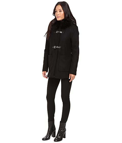 Fur Trimmed Toggle Pockets Calvin Oversized w Klein fHwqqxS5