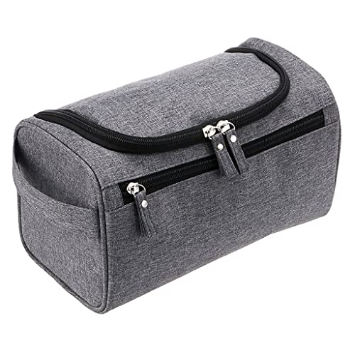 747df6d3d6 IGNPION Men s Hanging Travel Toiletry Wash Bag (Grey)