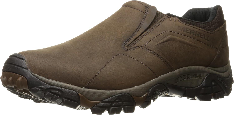 Merrell Men's Moab Adventure Moc Hiking shoes, Dark Earth, 8 M US