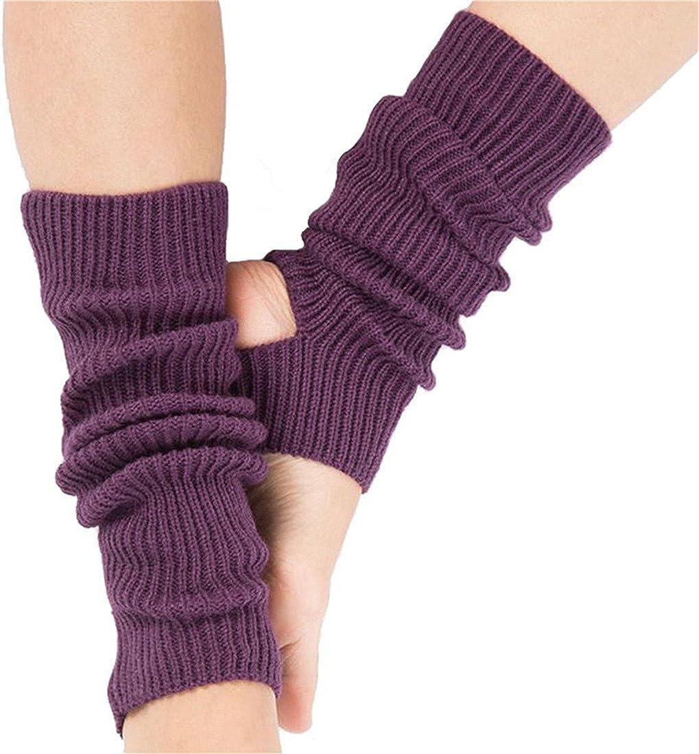 HLFaith Women Professional Yoga Socks - Calf Knitted Leg Warmers Yoga Socks Boot Cover