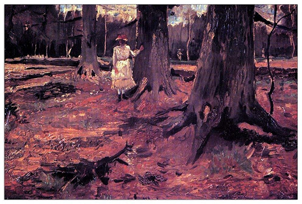 ArtPlaza TW90684 Van Gogh Vincent - Girl in White in The Woods Decorative Panel 39.5x27.5 Inch Multicolored