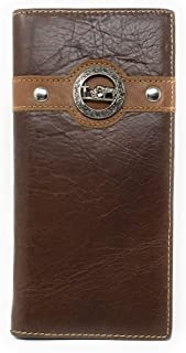 Texas West Men's Genuine Leather Praying Cowboy Bifold Wallet in 3 Colors
