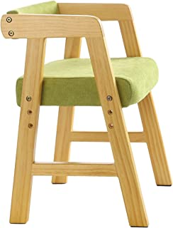 YouHi Kids Chair Wooden Chair for Toddlers Height-Adjustable Chair Comfortable Sponge Seat for Daycare Preschool Children's Room(Green)