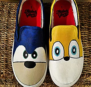 Sonic the Hedgehog Kid's and Adults Slip On Shoes
