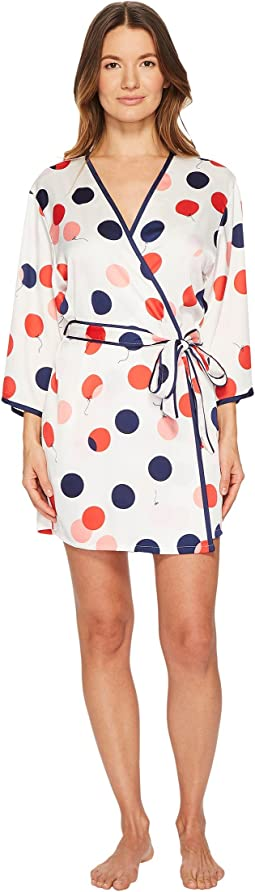Kate Spade New York Balloon Print Satin Robe