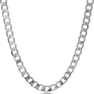 Nautica 2.5mm 20 Inch Curb Chain Necklace for Men or Women in Rhodium Plated Brass
