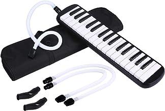 Asmuse Melodica 32 Teclas Con boquilla y manguera de soplado, Incluye una bolsa para transporte para Principiantes Niños Amantes Musicales Regalo Musical-Negro
