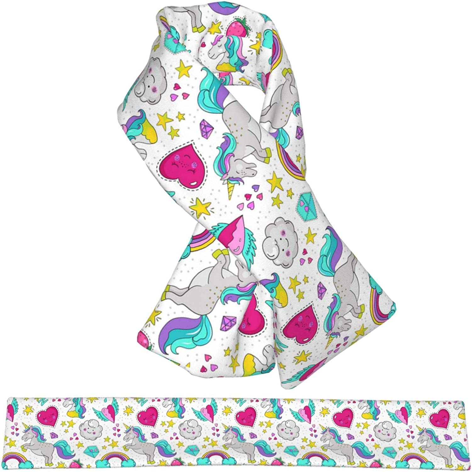 Colorful Dog Cashmere Feel Winter Scarf Soft Double Printed Adjustable Scarf For Men Women