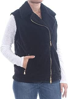 LAUREN RALPH LAUREN Womens Aftyn Faux Shearling Moto Vest