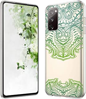 Galaxy S20 FE 5G Case Crystal Clear TPU Case with Mandala Design,Women Girls Slim Fit Shockproof TPU Rubber Soft Skin Sili...
