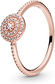 Pandora Jewelry Elegant Sparkle Cubic Zirconia Ring in Pandora Rose
