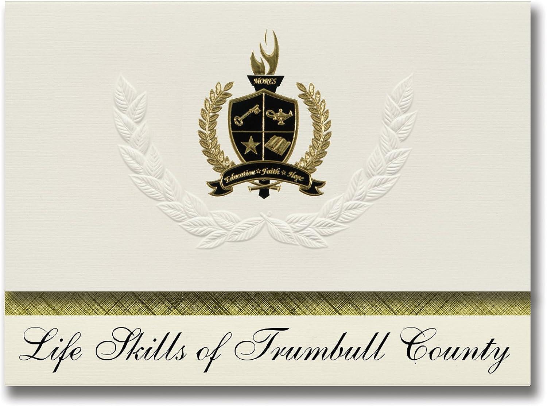 Signature Ankündigungen Life Life Life Fähigkeiten des Trumbull County (Warren, oh) Graduation Ankündigungen, Presidential Stil, Elite Paket 25 Stück mit Gold & Schwarz Metallic Folie Dichtung B078VCJG2P     Ästhetisches Aussehen  cb3b34
