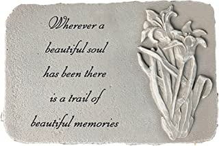 Kay Berry Inc Trail of Memories w/flowers; Memorial Stone 10x15 Shale ;With Stand