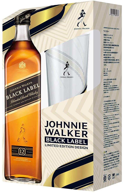 硬い異常な太鼓腹ジョニーウォーカー ブラックラベル12年 オリジナルハイボールグラス付 [ ウイスキー イギリス 700ml ] [ギフトBox入り]