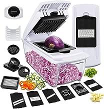 Mandoline Slicer Vegetable Chopper, Godmorn ALL IN 1 Professional Veggie Food Dicer Cutter Grater Julienne, Fruit Onion Potato Chopper Spiralizer, Egg Separator, Juicer, Preparing Salad