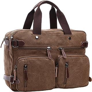 Berchirly Canvas Convertible Backpack Shoulder Handbag Multi-functional Travel Rucksack Laptop Shoulder Tote For Men Women