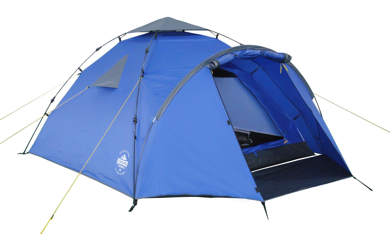 Lumaland Tienda de campaña Familiar Light Pop Up 3 Personas Camping Acampada Festival 220 x 220 x 130 cm Azul: Amazon.es: Deportes y aire libre