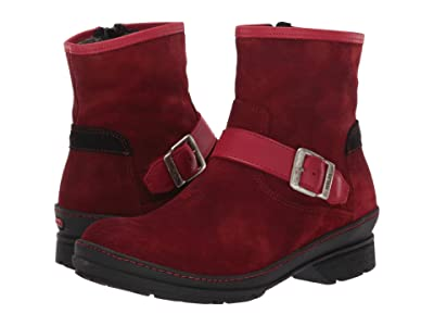 Wolky Nitra Waterproof (Dark Red) Women