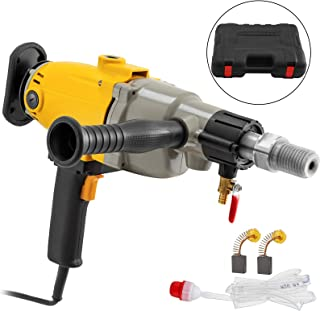 Happybuy Diamond Core Drilling Machine 7 Inch 180 mm Handheld Diamond Core Drill Rig Variable Speed Wet Dry Core Drill Rig Concrete Coring Drill Machine for Diamond Concrete Drilling Boring (7