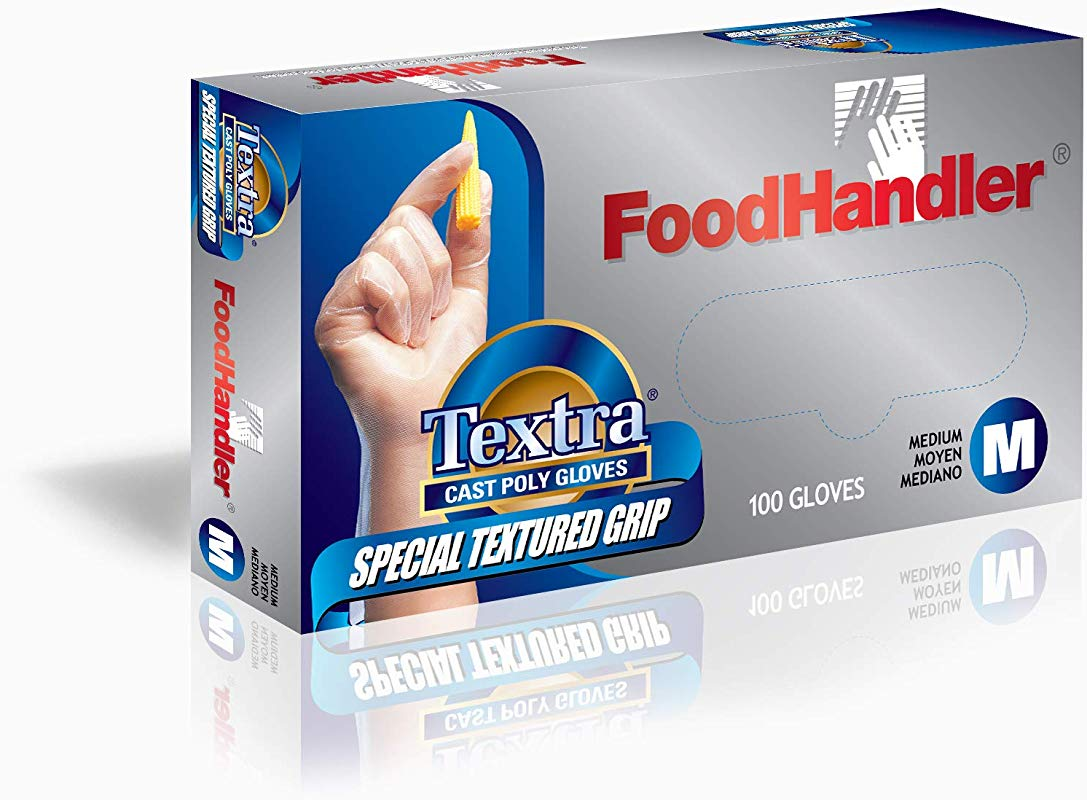 FoodHandler 104 FHCT14 CP FoodHandler Textra Textured Cast Poly MD Clear Pack Of 400
