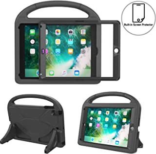 TIRIN Kids Case for iPad 9.7 2018 Case for Kids, Built-in Screen Protector Shockproof Light Weight Friendly Handle Stand Case for iPad 9.7 Inch 2018/2017 (6th/5th Gen) - Black