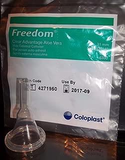 100 -BOX Condom Catheter 31mm Freedom Clear Advantage Aloe Vera Adhesive Intermediate #6300