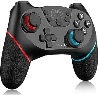 comprar comparacion BIGFOX Mando Inalámbrico para Nintendo Switch Pro/Lite, Gamepad con Doble Choque/Motor de Vibración/Giroscopio de 6 Ejes/T...