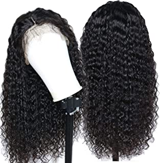 Eayon Hair Curly 13x4 Lace Front Human Hair Wigs-Glueless 130% Density Brazilian Virgin Remy Wigs with Baby Hair for Women 12 inch Natural Color