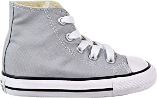 9ba6255cf6 Converse Infant Toddler s Chuck Taylor All Star Hi Fashion Shoe Wolf Grey