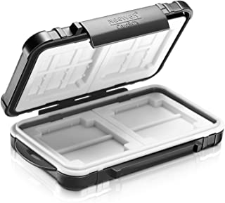 Neewer 14ranuras funda para tarjeta de memoria, soporte de caja de tarjeta de Durable Impermeable, antigolpes, almacenamiento Protector para 10tarjetas Micro SD/10tarjetas TF/2cf y tarjetas de 4tarjetas SD/4XD/2tarjetas CF (Negro)