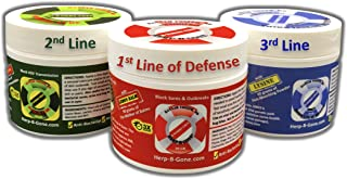 Doctor-FORMULATED HERP-B-GONE Bundle (Plus Blue-Top Refill): Red, Green & Blue-Tops: for Herpes Cold Sores, Shingles, Moll...