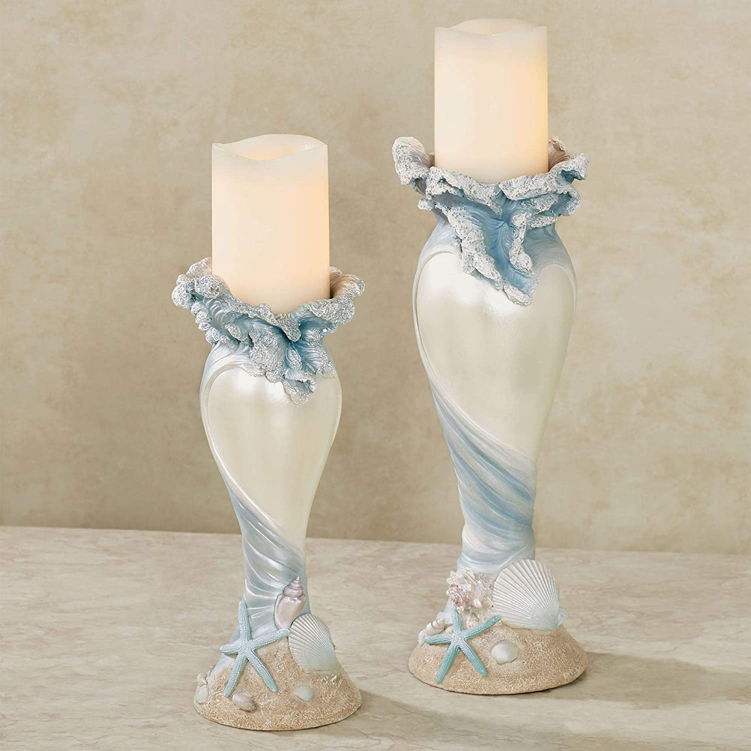 Fort Worth Mall Rising Tides Candleholders High order Blue Two Set of