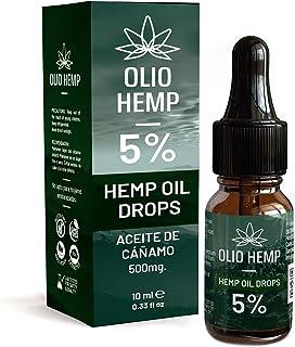 Aceite de Cáñamo Gotas 5% | 500mg Hemp Oil Espectro Completo Ayuda Con Dolor, Estrés, Ansiedad, Depresión | Antiinflamatorio Natural 10ml