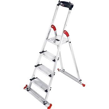 Hailo 8020-401 XXL Garden & Home Easy Clix Escalera para Exterior y Interior con 4 peldaños: Amazon.es: Hogar
