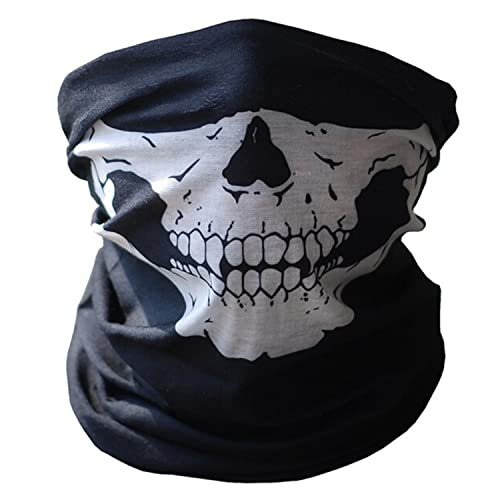 Skull Tubular Protective Dust Mask Bandana Motorcycle Polyester Scarf Face  Neck Warmer for Snowboard Skiing Motorcycle 61ecca4bf