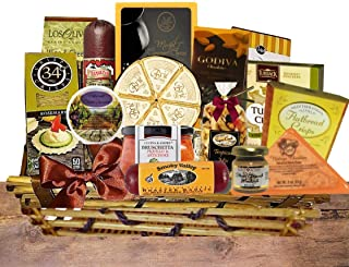 Gourmet Cheese, Meats and Nuts Gift Basket Deluxe