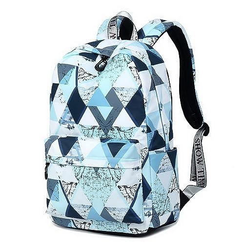 e4266bfb0f Joymoze Fashion Leisure Backpack for Girls Teenage School Backpack Women  Print Backpack Purse (Magic Blue