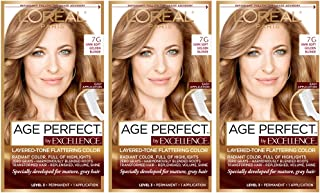 L'Oréal Paris Age Perfect Permanent Hair Color, 7G Dark Natural Golden Blonde (Pack of 3)