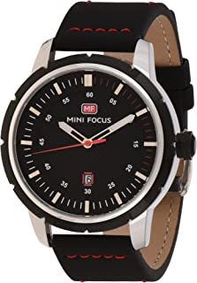 Mini Focus Mens Quartz Watch, Analog Display and Leather Strap - MF0014G.03