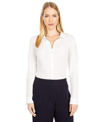 Eileen Fisher Petite Classic Collar Shirt (White) Women