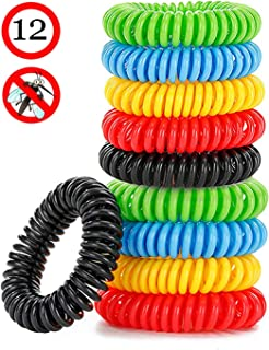 VANZO Mosquito Bracelets, Natural and Waterproof Wrist Bands for Adults, Kids, Pets (12 Pack)