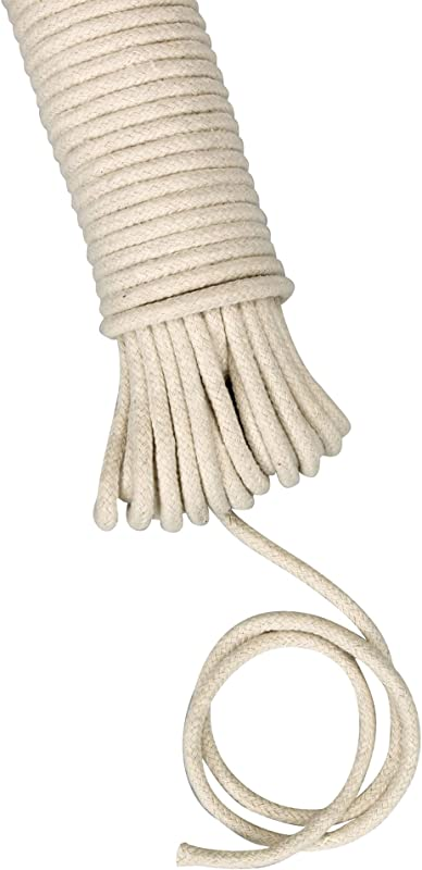 Household Essentials 04800 All Purpose Cotton Clothesline Rope 100Ft Length 3 16 Inch Dia